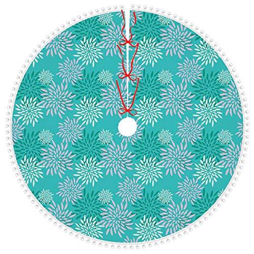 Axige888 Falda de árbol de Navidad de 91,44 cm para decoraciones de árbol de Navidad abstractas estilo origami figuras gráficas de perro en colores vivos geome
