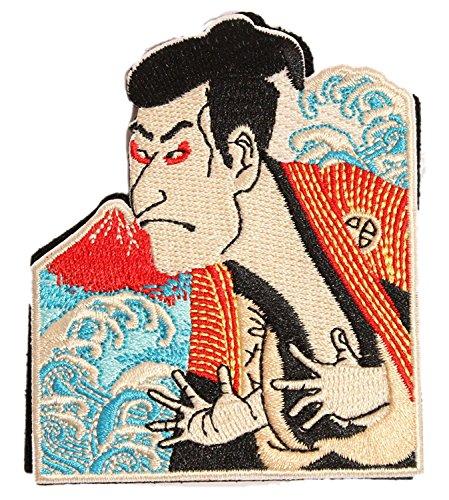 [Japan Import] 100% Embroidery Verclo Patches Hokusai Katsushika Ukiyo-e A0194