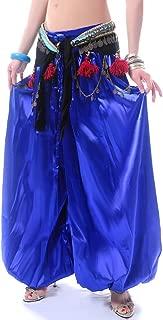 ROYAL SMEELA Belly Dance Pants for Women Belly Dance Costume Carnival Satin Pants Dance Harem Pants Lantern Pants, One Size