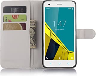 Vodafone Smart ultra 6 Case,Premium PU Leather Flip Folio Wallet Case with Card Slot,Stand Holder and Magnetic Closure [TP...