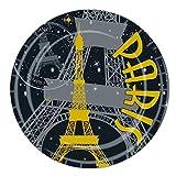 Beistle Paris Plates, 7-Inch, Multicolor