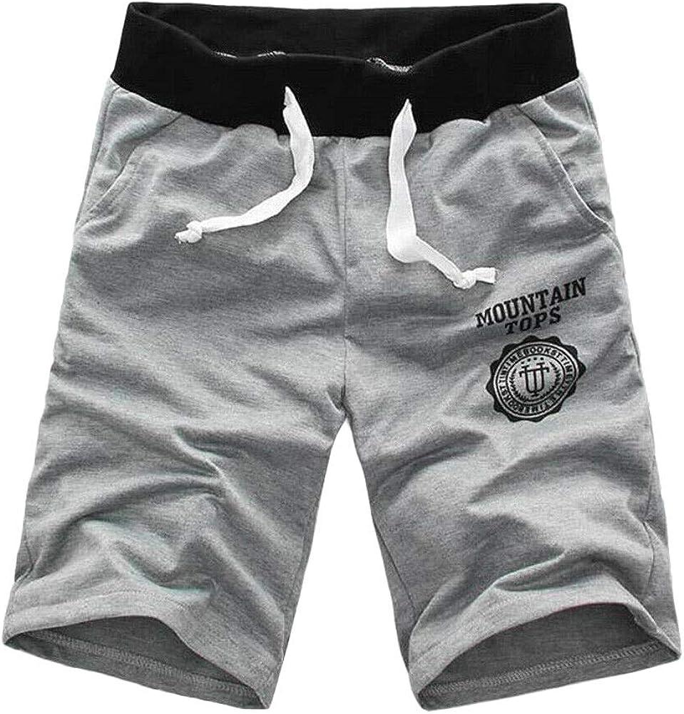 XUNFUN Men's Casual Shorts Elastic Waist Outdoor Summer Beach Shorts Comfy Outdoors Workout Swimming Shorts Big and Tall