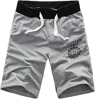 Xmiral Pantaloncini Uomo Pantaloni Cargo Casual Estate Pantaloni Sportivi da Spiaggia Mezzi Pantaloni a Tinta Unita