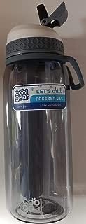 COOL GEAR 32 fl.oz Water Bottle with Freezer Gel (Gray)