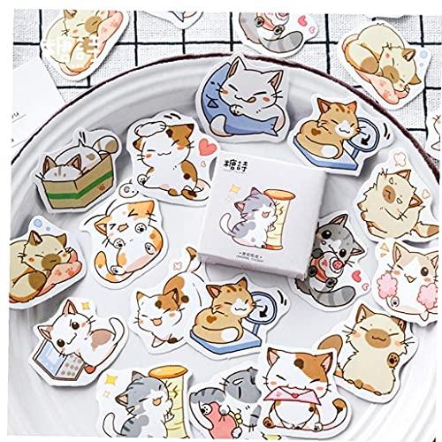 Etiqueta para Ordenador Portátil del Gato De Kawaii Girls Decoración para La Cama Libro Lápiz Bolsa Espejo Decoración Diario Japonés Papeleria Regalo De Los Niños