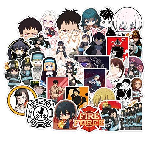 WYDML Pegatina de Personaje de Dibujos Animados de Dibujos Animados japoneses, Maleta de Viaje, monopatín de Ordenador Li, Pegatina de Marea Impermeable, 100 Uds.