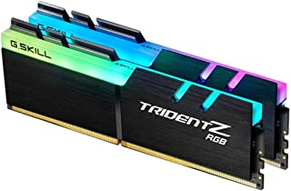 G.SKILL F4-3200C16D-16GTZR Trident Z RGB Series 16 GB (8 GB x 2) DDR4 3200 MHz PC4-25600 CL16 Dual Channel Memory Kit - Bl...