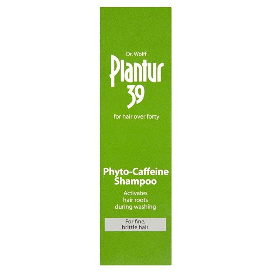 禁輸マッシュ機構Plantur 39 Phyto Caffeine Shampoo for Coloured & Stressed Hair (250ml) 色や髪を強調した( 250ミリリットル)のための39フィトのカフェインシャンプーplantur [並行輸入品]
