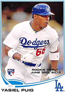 2013 Topps Update #US330 Yasiel Puig Dodgers MLB Baseball Card (RC - Rookie Card) NM-MT
