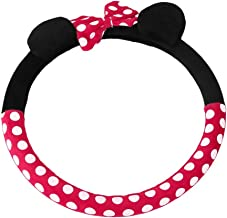 DRFLYSD 1 pcs 380mm car Girl Carto Steering Wheel Cover Covered General Cute Mickey Steering Wheel Cover Plush