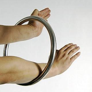 Anillo de acero inoxidable Wing Chun YeWen Sau Sticky entrenamiento manual pegajoso de fuerza Tsun Siu Lum Kung Fu