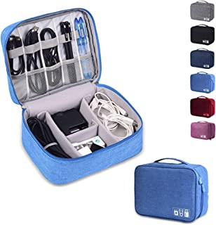 Rubik Electronics Organizer Waterproof Carrying Case - Universal Travel Digital Accessories Storage Bag for Portable Charg...
