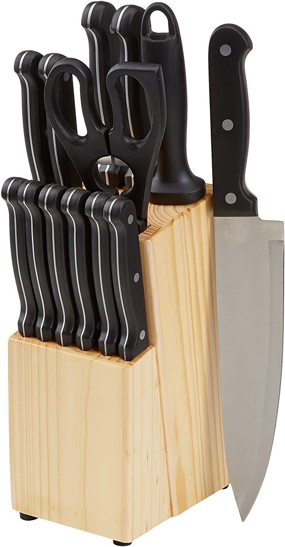 AmazonBasics 14 Piece Knife Block Set