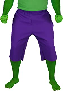 The Incredible Hulk Shorts Purple Adult