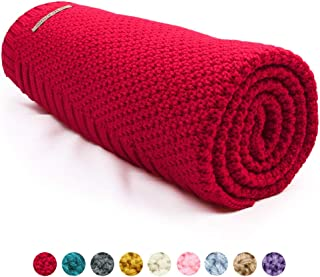 mimixiong Baby Blanket Knit Toddler Blankets for Boys and Girls Red 40 x30 Inch
