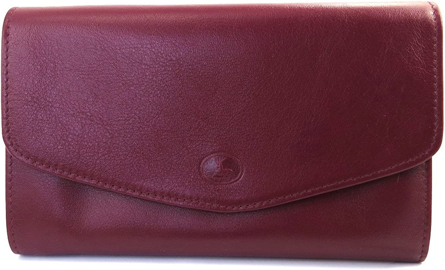 Leather wallet + checkbook holder 'Frandi'burgundy.