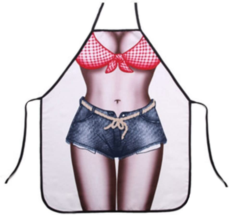Alien Storehouse Funny Personality Denim Shorts Aprons Blue Jeans