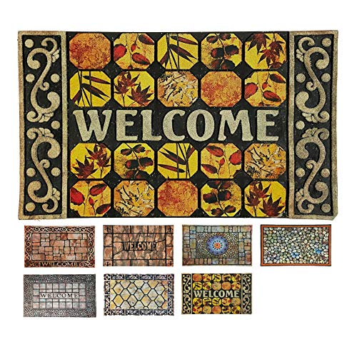 LucaHome - Felpudo Entrada casa de Goma-Flocada Texas 45x75 cm Forma Base Antideslizante, Felpudo Premium, fácil Limpieza, Felpudo Absorbente Acolchado, Fepudo para Exterior e Interior (Cuadrados)