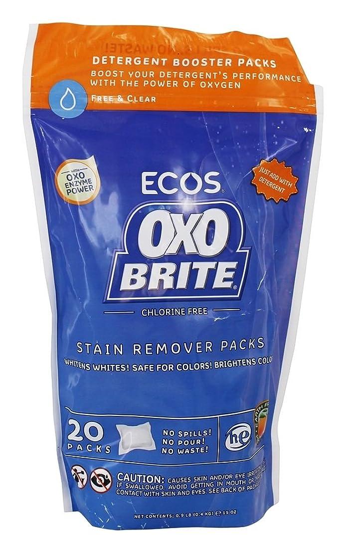 大邸宅シャッフル悪党Earth Friendly - オキソBriteの酸素及び酵素の洗濯のブスターのポッド - 20 ポーチ