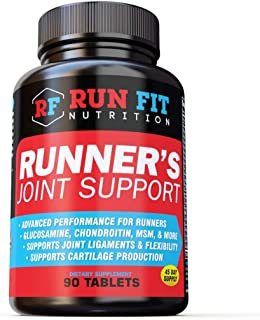 Runner's Joint Support - Relieves Knee Pain & Protects Joints - Joint Supplements - Glucosamine Chondroitin MSM - 1 1/2 Month Supply!