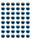48 COOKIE MONSTER ENVELOPE SEALS LABELS STICKERS 1.2' ROUND Party Favors Party Supplies