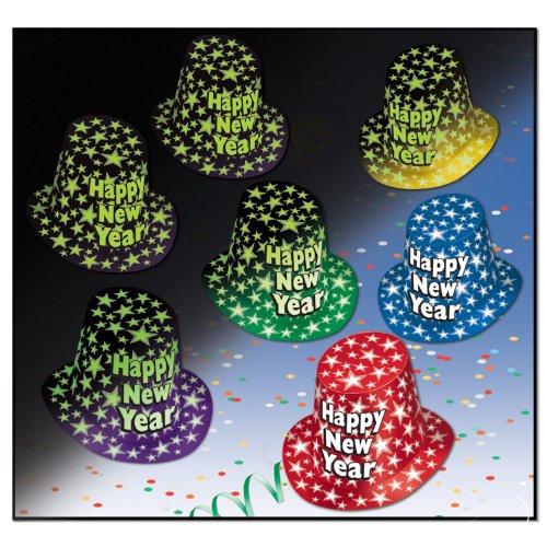 Beistle 88795–25Midnight Glow HiHat, 25Hüte Pro Paket