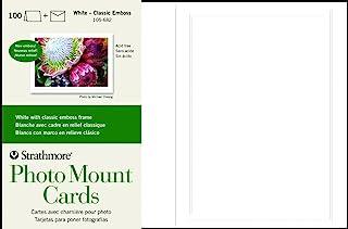 $51 » Strathmore Photo Mount Cards, White Classic Embossed Border, 100 Cards & Envelopes