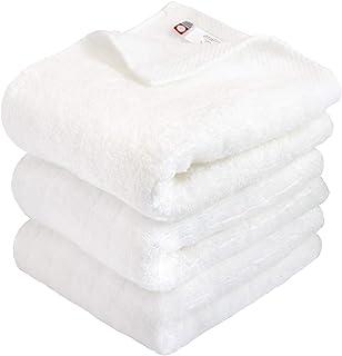 hiorie(ヒオリエ) 今治タオル 認定 フェイスタオル ふわふわリブタオル 3枚セット オフホワイト 日本製 貴重な超長綿使用 今治ブランド