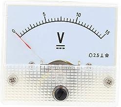 Uokoki 85C1 DC analogique pointeur panneau compteur de tension 15V jauge Voltm/ètre aiguille Volt testeur