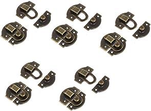 DealMux A14082700ux0037 Set houten kistsluitingen antiek met scharniersluiting, bronzon, 27 mm lang, 10 stuks