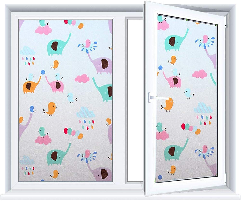 Static Window Stickers, Cartoon Window Film Glass Film Bathroom Glass Stickers AntiTransparent Decorative Personality Creative Opaque,55x200cm(21x78in)
