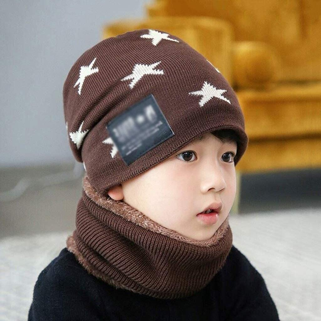 JJSPP Children Winter Warm Finally popular brand Ranking TOP5 Knitted Hat Thic Caps of Scarves with
