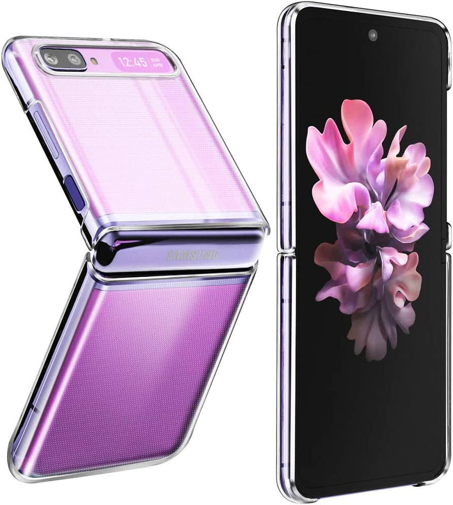 wegoodsun Case Compatible for Samsung Galaxy Z Flip 5G(2020),[NOT for Z Flip3][Slim Thin] Design Full-Body Stylish Protective Case TPU Bumper Shockproof Anti-Scratch Phone case(Crystal Clear)