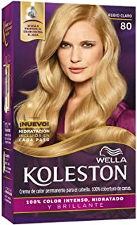 Wella Koleston Coloracion Permanente en Crema, 80 Rubio Claro