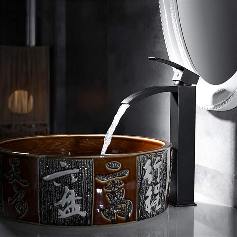 VIOYO Wasserhahn Wasserhahn Messing Küchenarmatur Schwarz Messing Wasserhahn Einhand Waschbecken Vintage Küchenarmatur