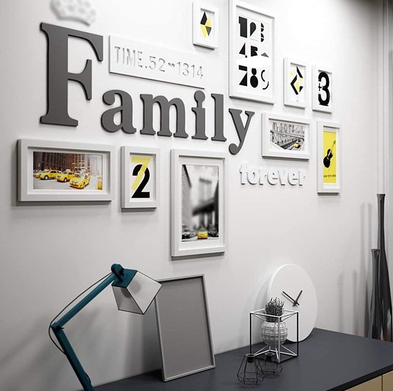 mejor vendido YLDB Foto Parojo Creativa Madera Maciza Salón Salón Salón Dormitorio Moderno Simplicidad Marco de combinación Parojo Moda Salvaje (Color  A)  tienda en linea