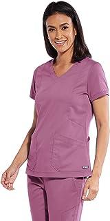 BARCO Grey's Anatomy GRT049 - Camiseta con 4 bolsillos y cuello en V para mujer