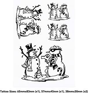 4 x 'Snowman Stick Up' Temporary Tattoos (TO00035933)