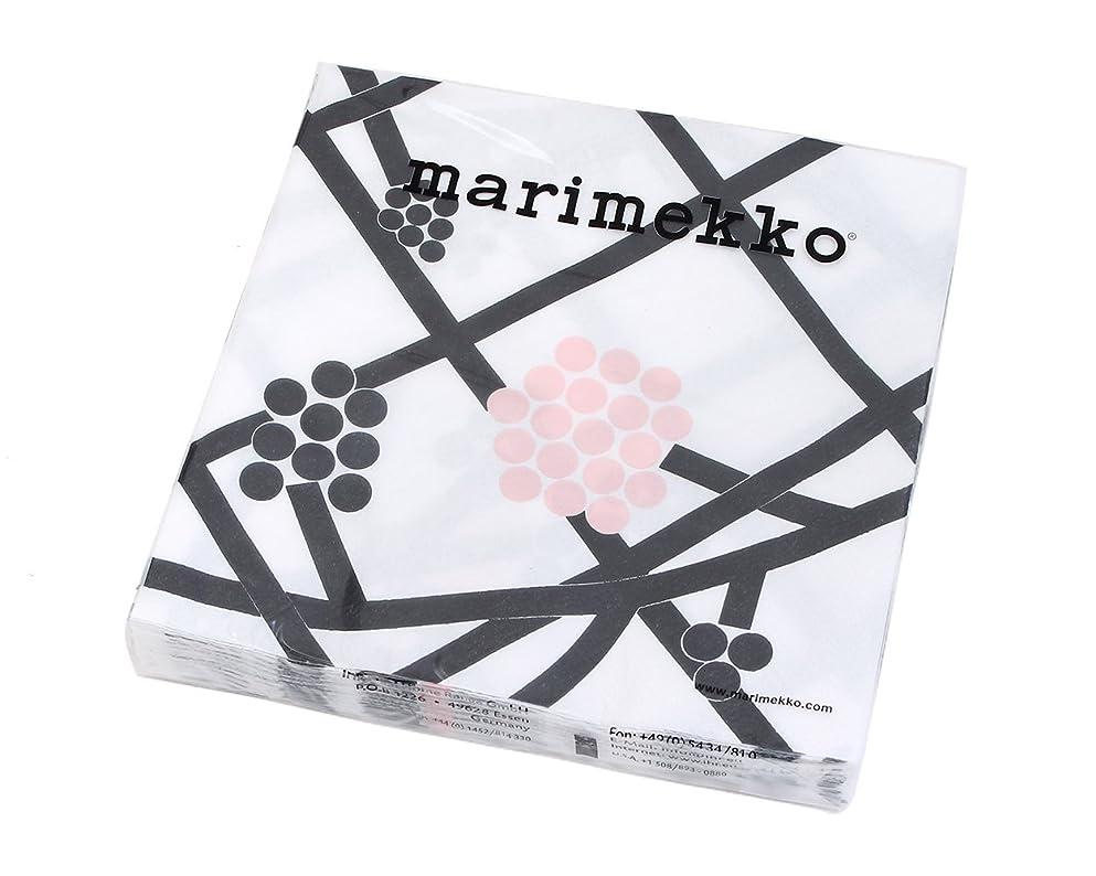 囚人ひいきにするちなみにマリメッコ(marimekko) ペーパーナプキン ホルテンシエ ブラック 33x33cm 20枚入り HORTENSIE 732400 [並行輸入品]