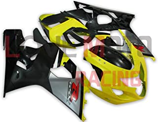 LoveMoto Fairings for suzuki GSX-R600 GSX-R750 K4 2004 2005 04 05 GSXR 600 750 ABS Injection Mold Plastic Motorcycle Fairing Set Kits Yellow Black
