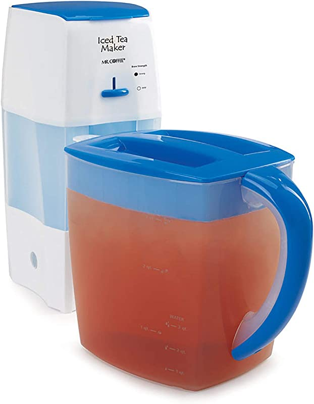 Mr Coffee Iced Tea Maker 3 Quart With Brew Strength Selector Blue