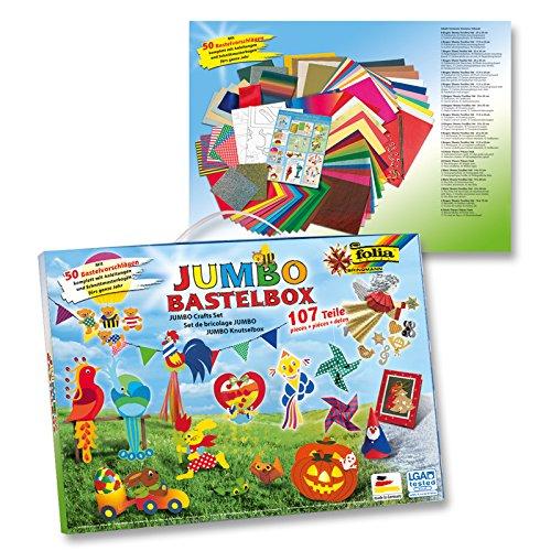 CREATIV DISCOUNT NEU Jumbo Bastelbox, 107-teilig