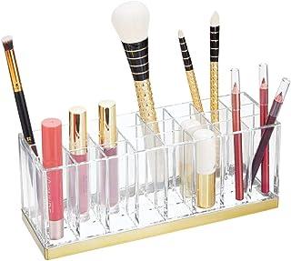 mDesign rangement maquillage pratique – boîte à maquillage déco pour vernis à ongles et rouge à lèvres – présentoir make u...
