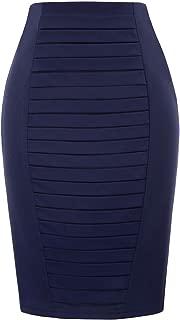 Kate Kasin Women's Stretchy Cotton Pencil Skirt Slim Fit Business Skirt KK269