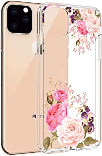 Vinve for iPhone 11 Pro Max Case, 6.5 inch 2019, Anti-Scratch Shockproof Cover Hard Back Panel + TPU Bumper Slim Phone case (Peony)
