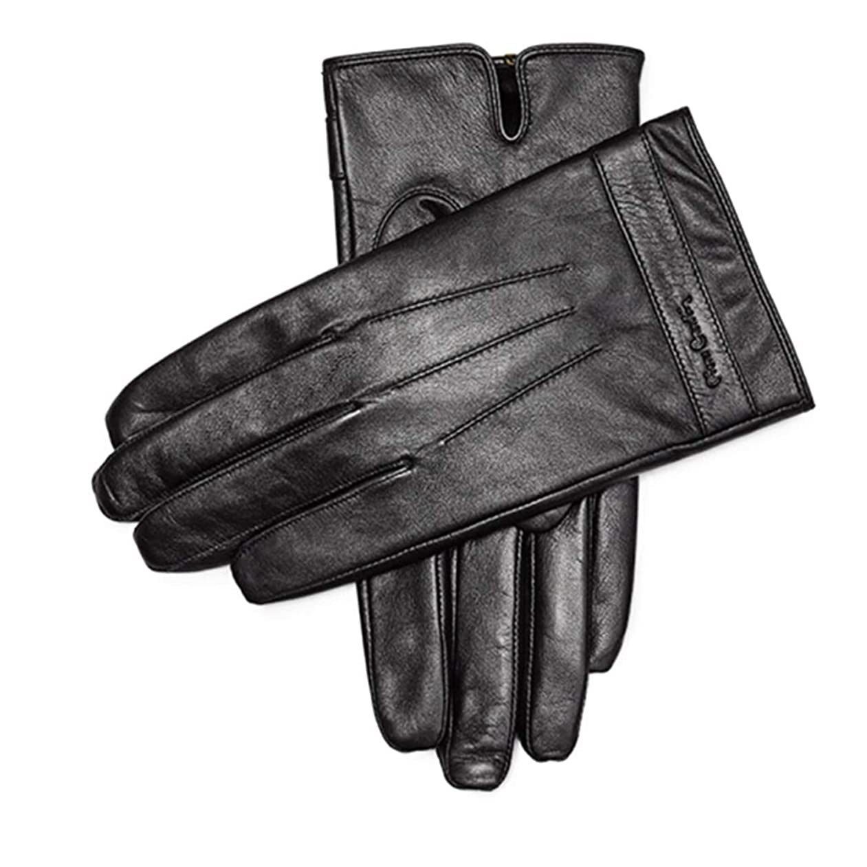 ぐったり放牧する糞手袋暖かい肥厚プラスベルベットメンズシープスキン手袋メンズウィンターアンチスキッドサイクリングレザーグローブタッチスクリーンモデル(883191170-1厚いベルベット)L(175 / 65-70KG)