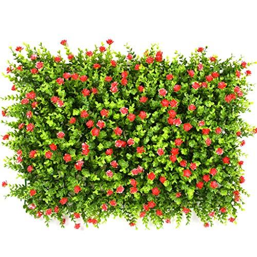 YNFNGXU Plantes artificielles Panneau Mural Treillis décoration Murale embellir Jardin Faux Tapis de clôture Vert haie 40x60m (Color : B)