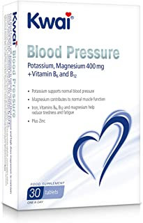 Kwai Blood Pressure Potassium. Magnesium 400mg + Vitamin B6 and B12 - 30 Tablets