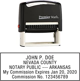 Arkansas Notary Self-Inking Rubber Stamp - Meets State Specifications