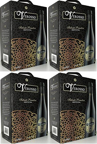 4 x VEROSSO SALENTO PRIMITIVO Bag in Box 3L